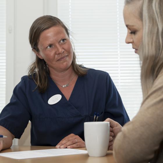 Vårdcoach Linda Willfors